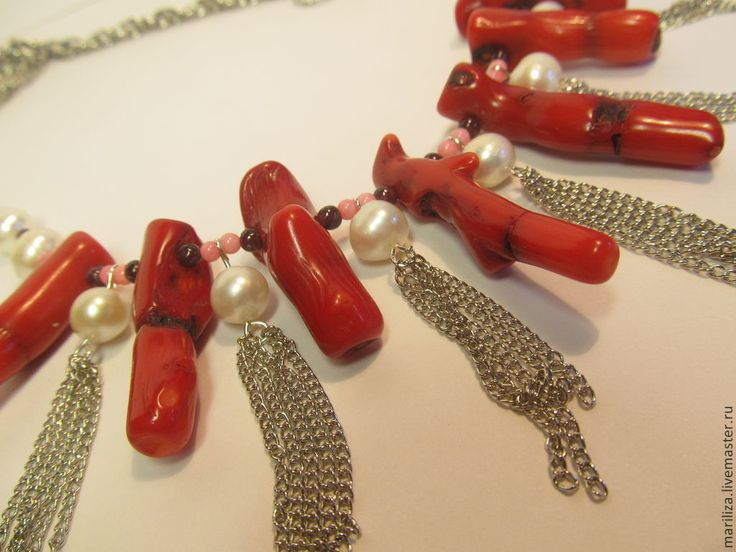 Necklace Caribbean Sea (pearls and corals)
