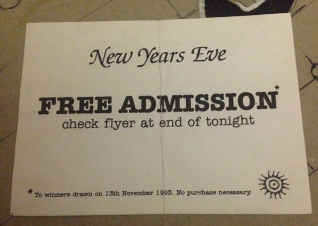 LIFE BOWLERS TRAFFORD MANCHESTER NEW YEARS EVE 1993 FREE ADMISSION RAVE FLYER | eBay
