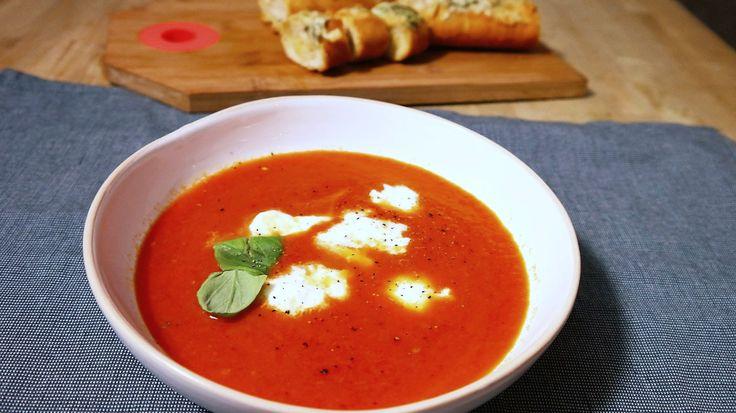 Geroosterde tomaten paprikasoep/ Томатный суп