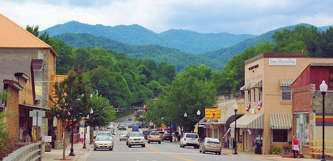 Bryson City in the beautiful mountains of North Carolina