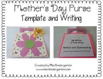 A Mother's Day gift that a mother will never forget! An adorable purse filled with *honest* descriptions about mom! Both purse template and 5 pages...