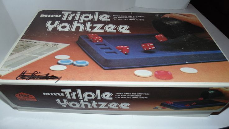 Vintage 1978 Lowe Deluxe  triple Yahtzee game Dice by AltmodischVintage on Etsy