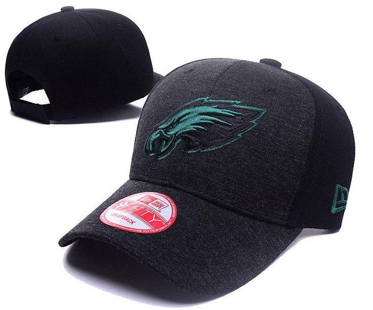 Men's / Women's Philadelphia Eagles New Era 2016 NFL Classic Team Adjustable Curved Hat - Heather Grey / Black