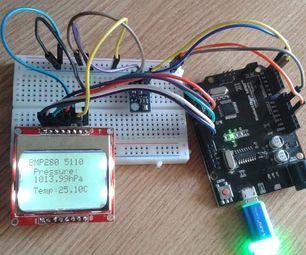 BMP280+5110 LCD Arduino