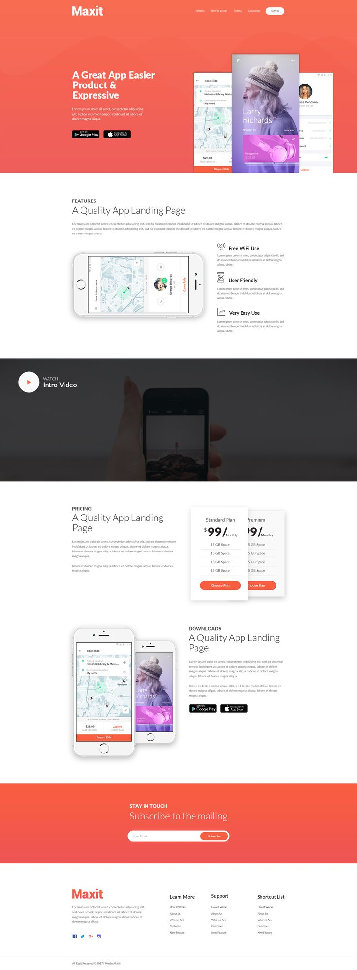 App Landing Page by theme_cafe | ThemeForest