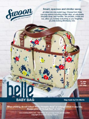 Belle Baby Bag - Swoon Sewing Patterns
