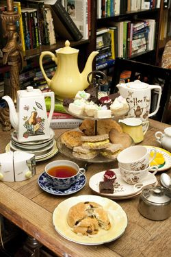 Dr. bombays underwater tea party - High Tea  Available from 3:30 to 5:30 every day  Pot of tea for 2, including milk, honey, lemon, sugar. Served with assorted cookies and mini cupcakes, 2 scones, jam, imported Devonshire clotted cream and finger sandwiches    Tea served for 2 $30.00