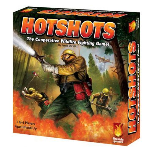 Hotshots is a cooperative, press-your-luck firefighting game designed by Justin De Witt, creator of our hit cooperative games Castle Panic and Star Trek Panic. Crews of 1 to 4 players take on the roles of wildfire fighters (Crew Boss, Spotter, Swamper, and Sawyer) with special abilities and roll dice on burning terrain tiles to match the combinations shown on the tiles. The more faces you roll, the better you fight the fire. Choose to cut Firebreaks, which prevent fires from being spread by…