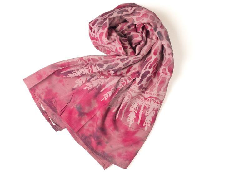 KADOH Sarong rosa gebatikt