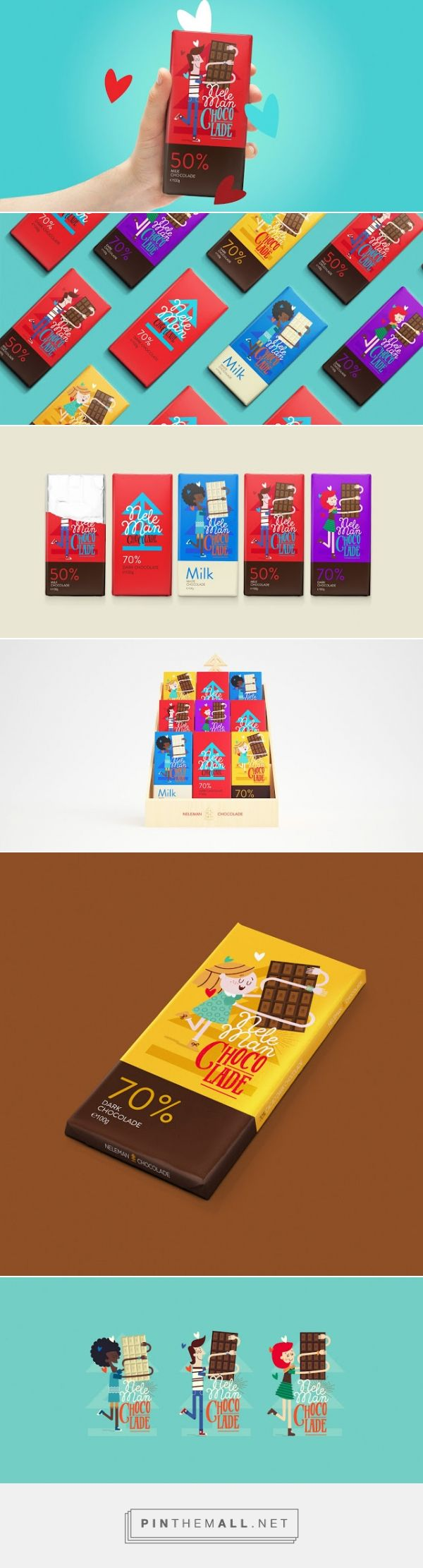 Neleman's Chocolade Chocolate Packaging designed by Sweety & Co. - http://www.packagingoftheworld.com/2015/12/nelemans-chocolade.html