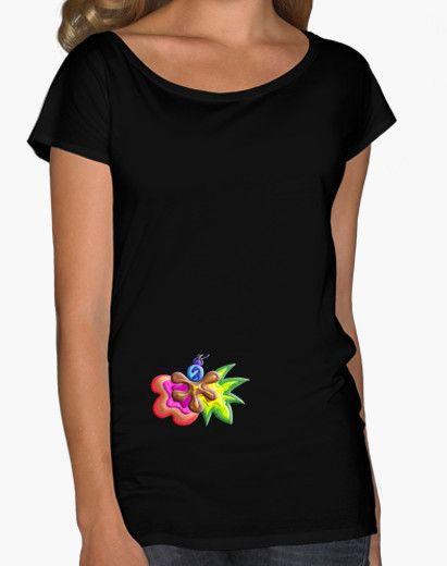 Camiseta de mujer Explosión de Color - Woman t-shirt Color Explosion - #Shop #Gift #Tienda #Regalos #Diseño #Design #LaMagiaDeUnSentimiento #MaderaYManchas #Woman #Mujer #tshirt #Cool #black #colors