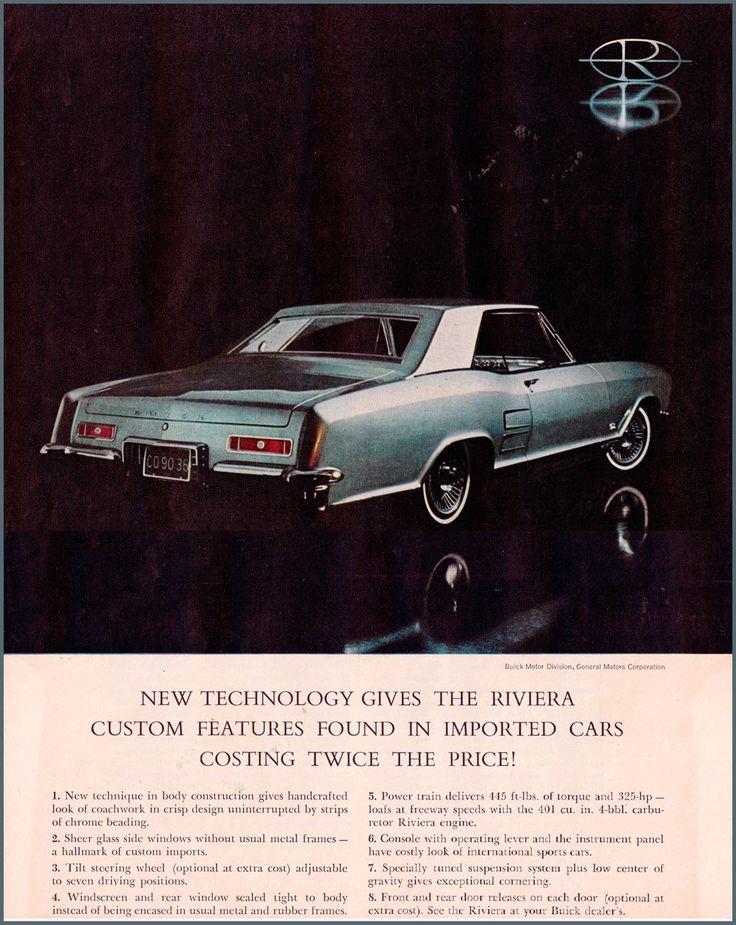 1963 #Buick #Riviera ad