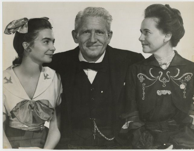 Spencer Tracy, Jean Simmons, and Teresa Wright in The Actress (1953)