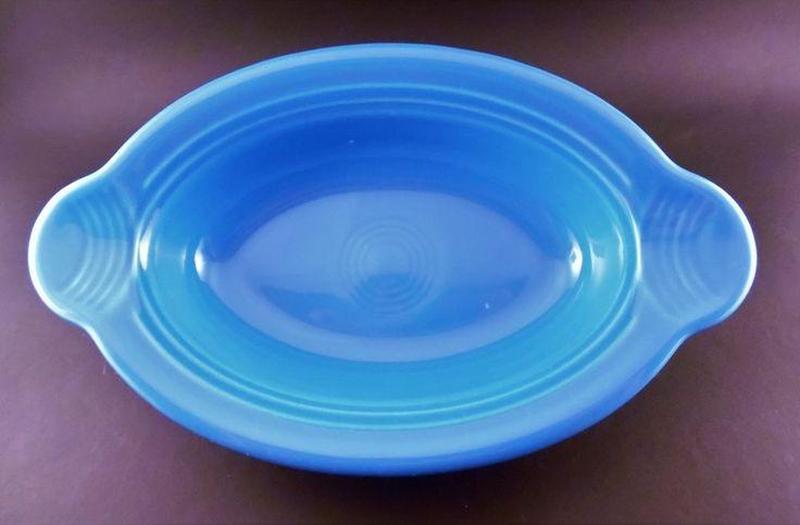 Fiesta Ware individual casserole handled oval Turquoise bowl  #Fiesta