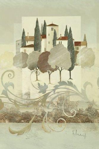 Franz-Heigl-Villa-Toscana-I-Toskana-Fertig-Bild-40x60-Wandbild