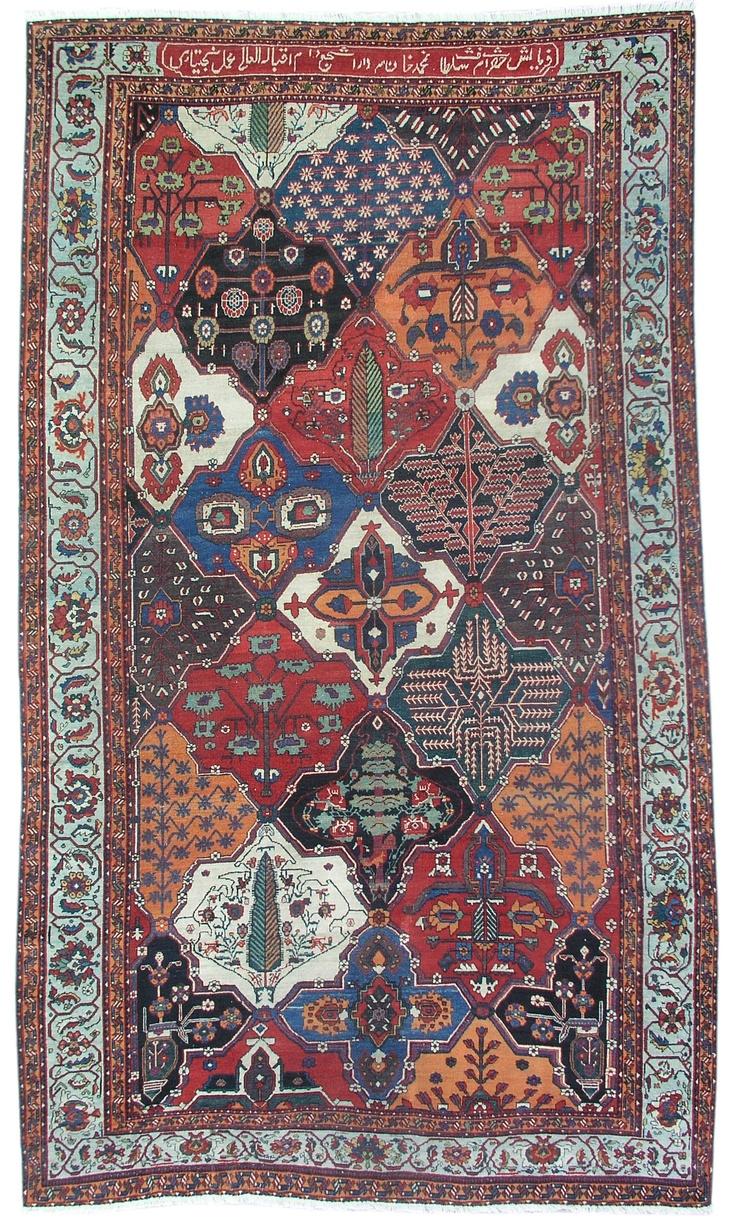 Beautiful Antique Bakhteyari Rug.