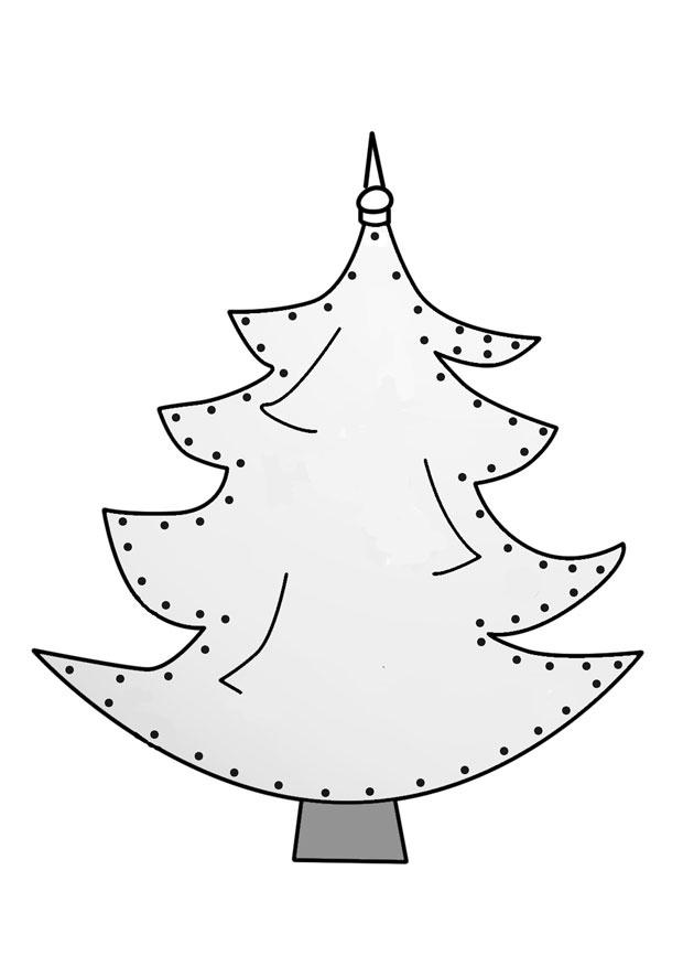 Rijgkaart Kerstboom