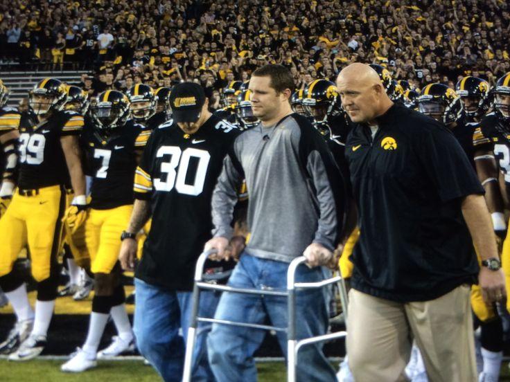Brent Greenwood Iowa Hawkeyes Honorary Captain for the Iowa / Pitt game 9-19-15