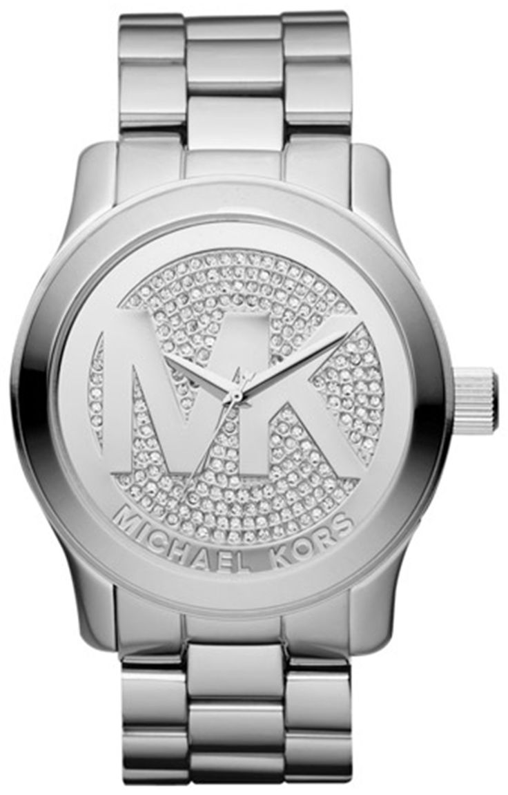 Michael Kors Runway MK Silver Dial Women\u0027s Watch \u2013 Product Features  Stainless Steel Strap Multifunction Deployment closure Case Diameter: Lug  Width: Product ...