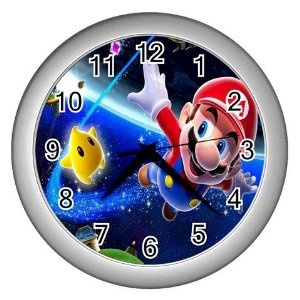 New Super Mario Galaxy Decor Wall Clock, Because My Sister Loves That Game