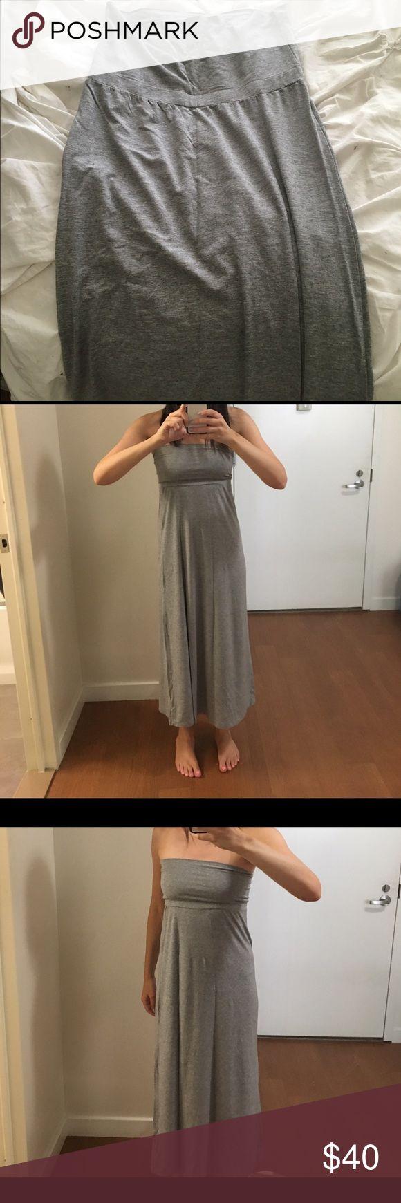 Splendid grey maxi dress/maxi skirt Splendid grey maxi dress can also be worn just as a maxi skirt - brand new never worn, tag attached Splendid Dresses Maxi