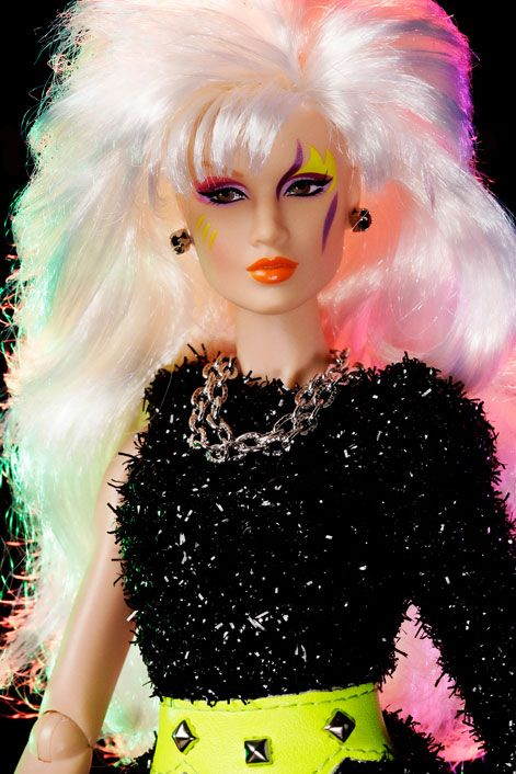 Jem and the Holograms Roxy Roxanne Pelligrini of The Misfits Integrity Toys Fashion Royalty Doll.  From the 3rd Wave of Jem dolls, Animejems <3s!  #roxy #jemandtheholograms #jemdoll