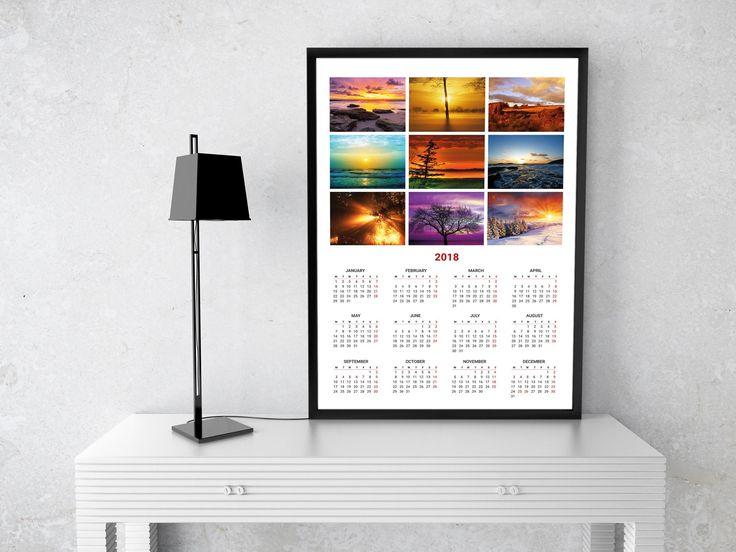 Stiai ca se pot realiza calendare pe 2018 cu fotografii inramate?   Rama se poate refolosi pentru alt calendar sau pentru un tablou :)
