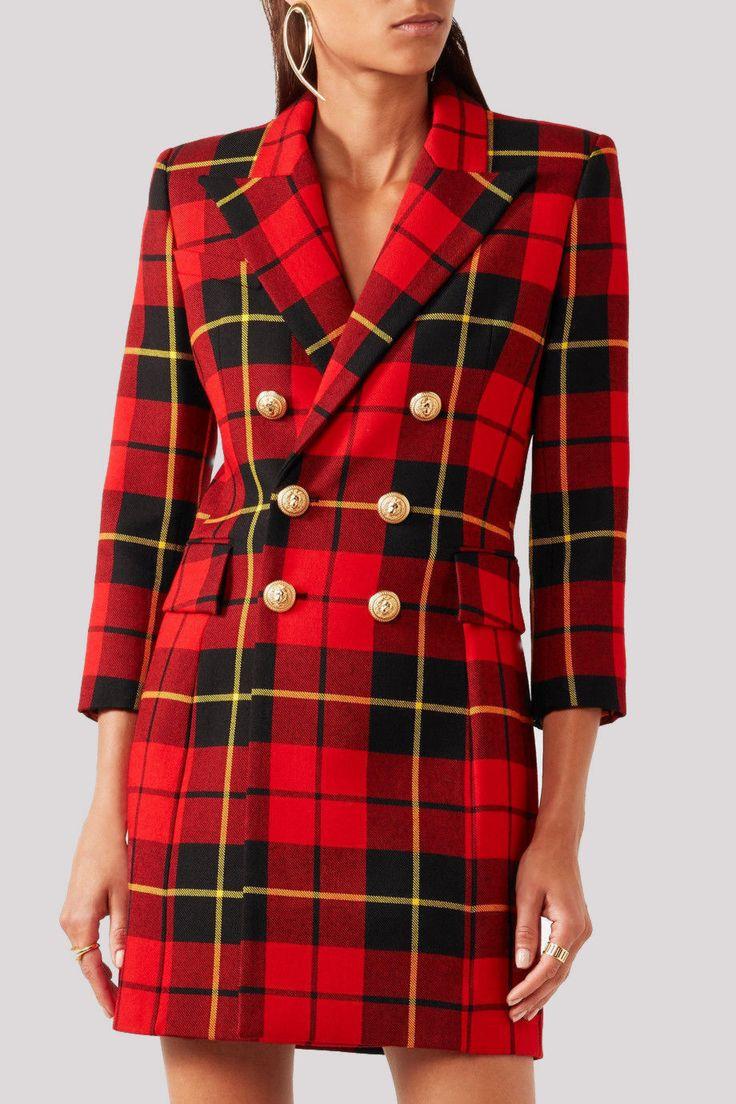 Plaid dress | Купить Осеннее теплое вечернее платье на выход и на каждый день - платье, Платье осеннее