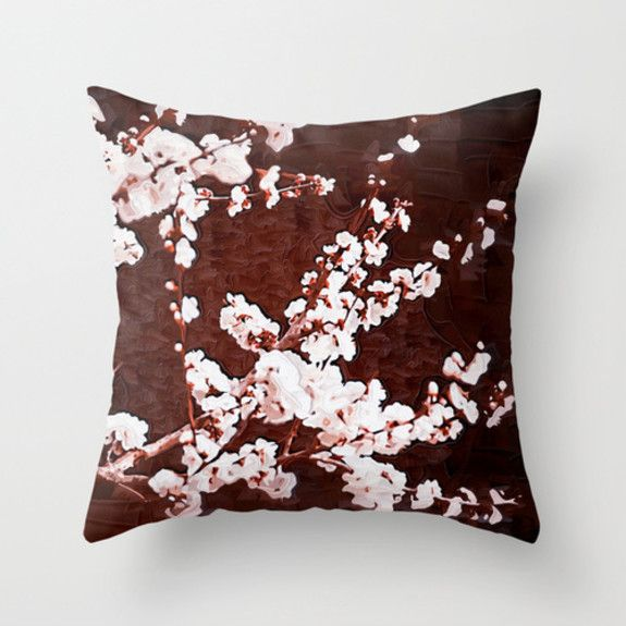 Paula Belle Flores - Cherry Blossoms Cushion Cover