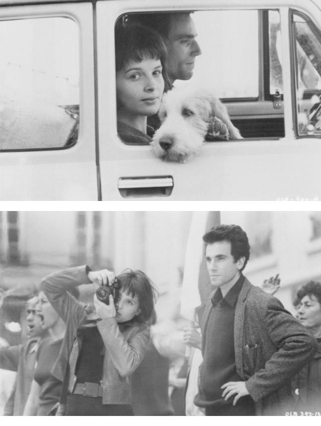 Daniel Day Lewis, Juliette Binoche :: The Unbearable Lightness of Being (1988), L'insoupçonnable légèreté de l'être, d'après le livre de Milan Kundera, un très beau livre et un superbe film.