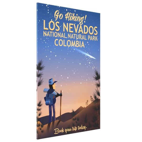Los Nevados National Natural Park Travel poster Canvas Print