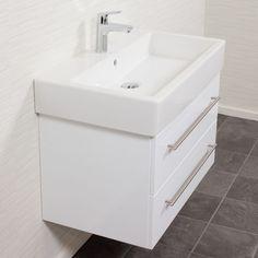 Duravit Vero 80 Cm Keramik Inkl. Emotion Badmöbel Weiss Waschtisch Badezimmer  Unterschrank Waschbecken: Amazon