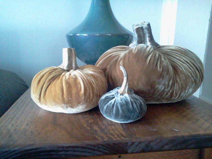 Velvet pumpkins for Fall...