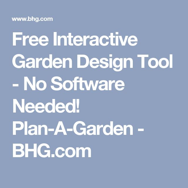 free interactive garden design tool no software needed plan a garden