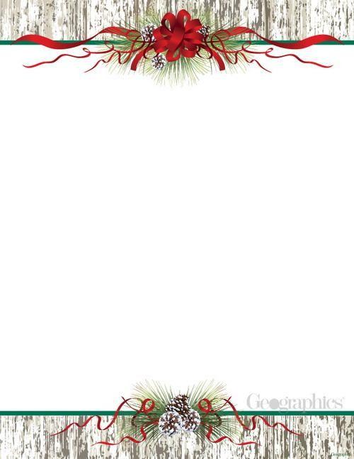 "Pinecones & Ribbon Christmas Letterhead, 8.5""x11"", 80/PK"
