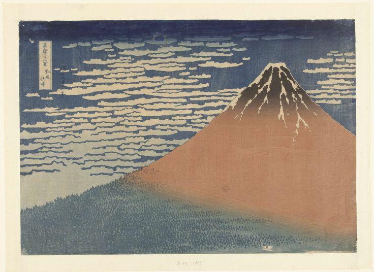 Helder weer en een zuidelijke wind, Katsushika Hokusai, 1829 - 1833