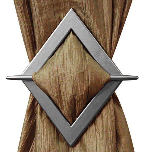 Diamond Decorative Curtain Holdbacks, Set of of 2, Beige Silver Gold Bronze (Silver), http://www.amazon.com/dp/B00MX82EX8/ref=cm_sw_r_pi_awdm_R9Bcxb1A0CA60