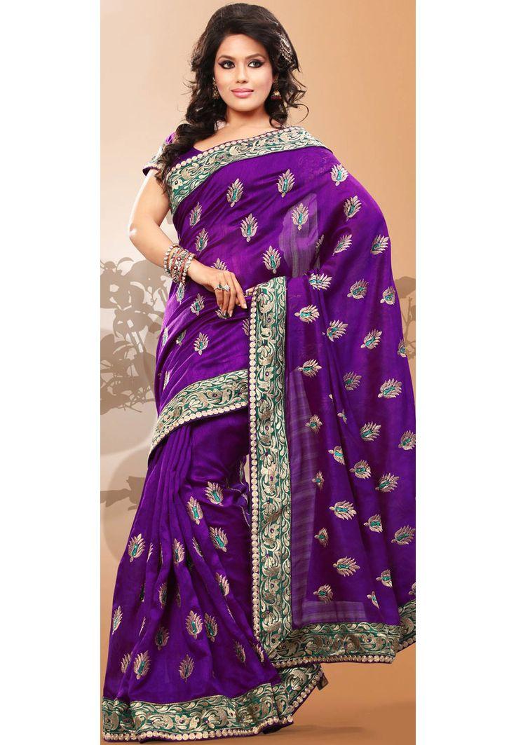 Almost like peacock embroidery  http://www.utsavfashion.com/saree/dark-purple-art-bhagalpuri-silk-saree-with-blouse/sas138c-itemcode