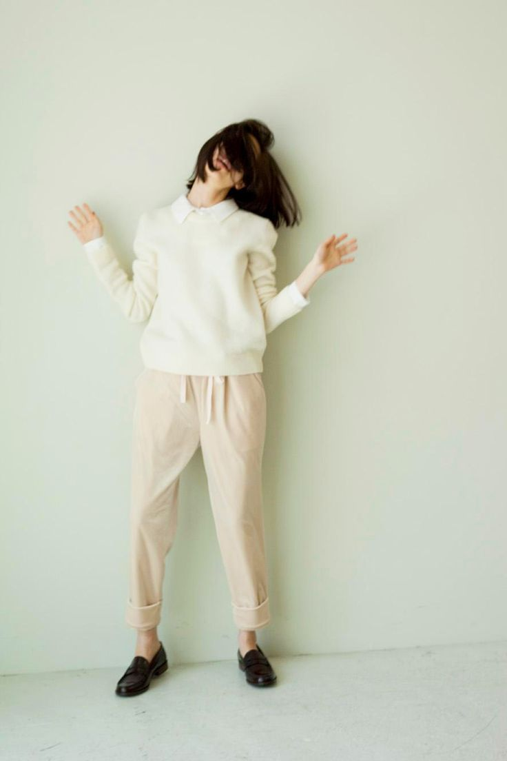emily-huynh:  Kiko Mizuhara   top/sweater + polo + pants + loafers + style