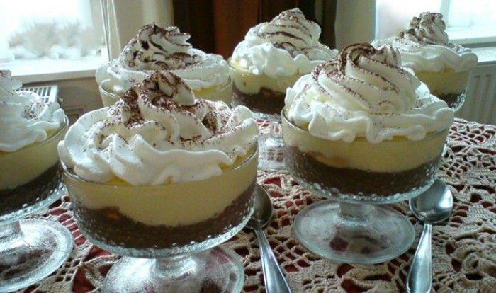 Domácí pudink s příchutí vanilky a kakaa. Rychlý a jednoduchý na přípravu. Hotová mňamka po vydatném obědě.