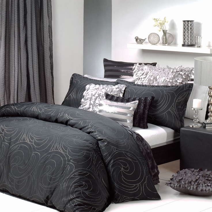black silver quilt cover set master bedroom pinterest