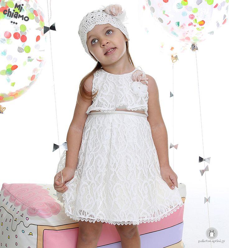 Φόρεμα Βάπτισης Δαντελένιο Ιβουάρ Mi Chiamo Κ4020-16655 https://www.paketovaptisi.gr/christening-packages-girl/christening-clothes-girl/sum-spri/product/2316-16655.html Βαπτιστικό φόρεμα από τη νέα collection της εταιρείας Mi Chiamo κατασκευασμένο από δαντέλα σε ιβουάρ χρώμα με λεπτομέρειες από σάπιο μήλο. Το σύνολο συνοδεύεται από καπέλο ή κορδέλα ή στέκα το οποίο συμπεριλαμβάνεται στην τιμή. Συνδυάζεται προαιρετικά με ασορτί ζακετάκι. #MiChiamo #φορεμα #βαπτιση #βαπτιστικα