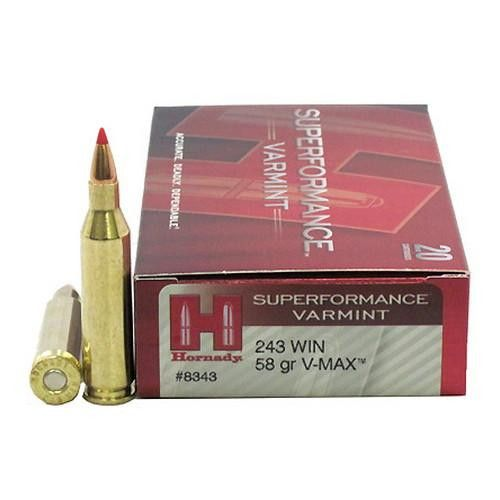 243 Winchester - 243 Winchester, 58 Gr Superformance Varmint, V-Max (20 Rounds Per Box)