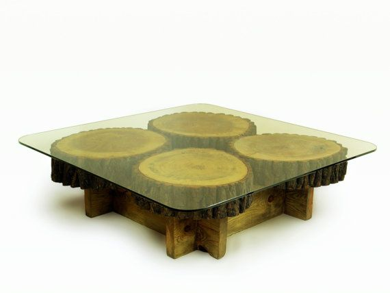 low square coffee table of large aspen slices on by FreeTreeStudio | see more at https://www.etsy.com/shop/FreeTreeStudio