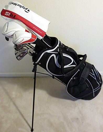 Mens Right Handed TaylorMade Complete Golf Set Driver, Fairway Wood, Hybrid, Irons, Putter, Clubs & Stand Bag Regular Flex