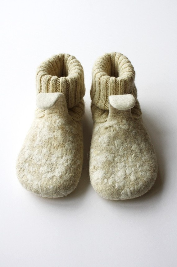 so gorgeous hand felted merino wool slippers - etzy -onstail 112.00 USD
