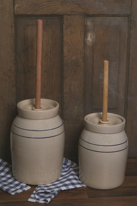 Hand Turned Pottery Butter Churn Style Pottery And House