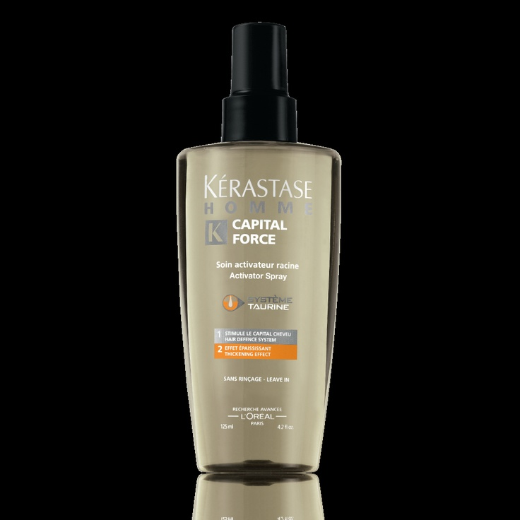 Kerastase Activateur Capital Force Densifying ... A men's activating treatment spray for hair prone to thinning.