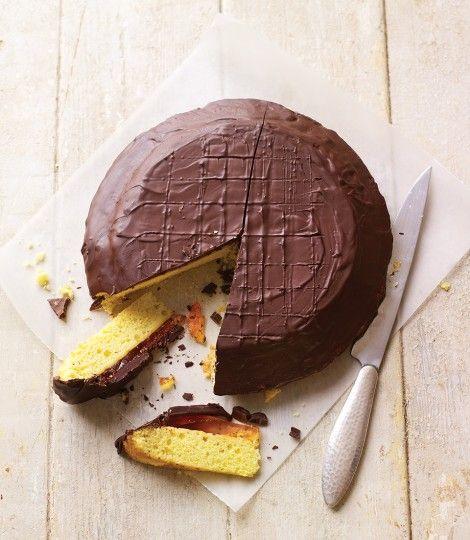 Giant Jaffa Cake- Delicious Magazine