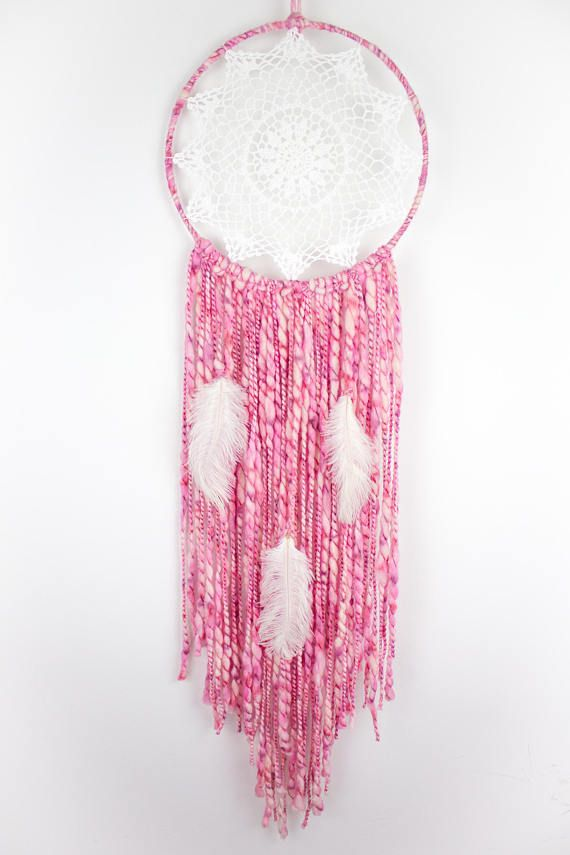Pink Driftwood Dream Catcher Crotched dreamcatcher Bohemian